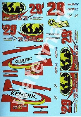 New 1/24 Scale Sprint Car Decals 29 Kerry Madsen Keneric Racing World Outlaws