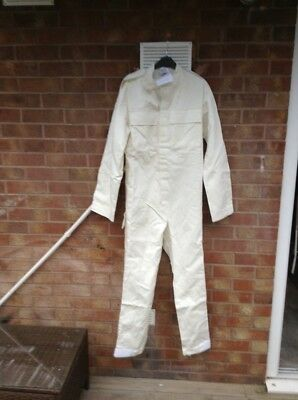 Coverall  Flame Retardant White  Boiler Suit New With Tags Sz S
