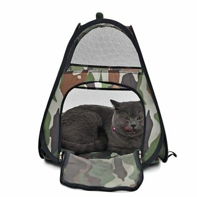 Pet Cat Tent House Catcamouflage Portable Foldable Kitten Cat Tent Bed Igloo Toy