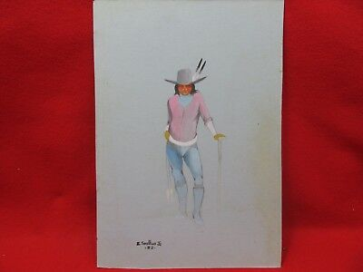 E-JOSHUA-JR-ORIGINAL-1982-VINTAGE-NATIVE-AMERICAN- Pencil Art-