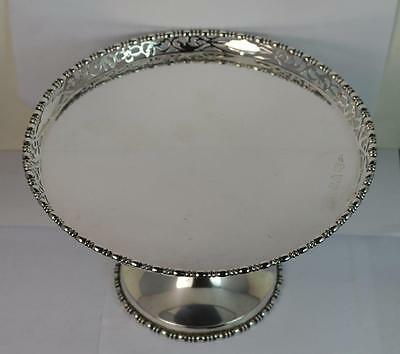 Heavy 1927 Chester Silver Cake Stand or Tazza
