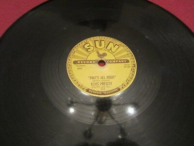Elvis Presley Sun 78 Original Record Thats All Right/ Blue Moon Of Kentucky!!!