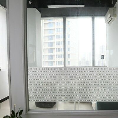 Self Adhesive Privacy Frosted Film Frost Glass Home Window Striped Sticker White