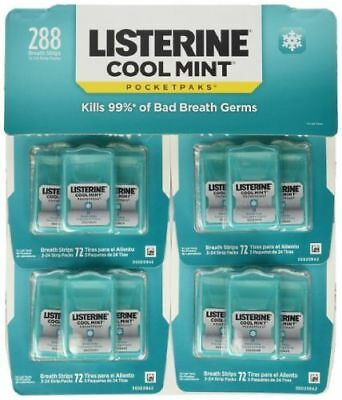 Listerine Cool Mint Pocketpaks Breath Strips 24 Count 12 PK - NEW