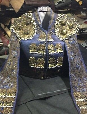 Vintage bullfighting Antique matador suit of lights holloween costume from Spain