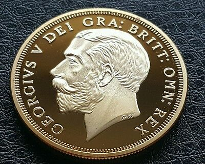 George V Commemorative Gold Plated 1933 Crown Coin