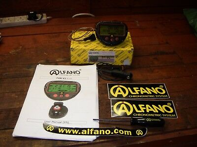 Alfano Fun V2 Lap Timer , Chronometric System Tony Kart Track Bike