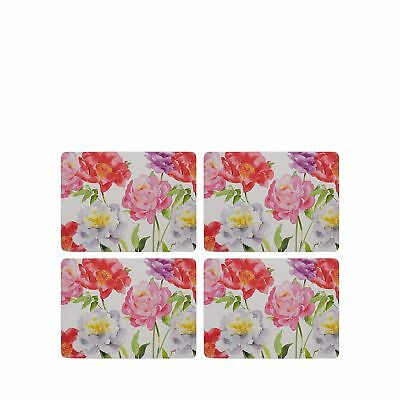 Pack Of Eight Multicoloured Floral Print Place Mat And Coaster Set
