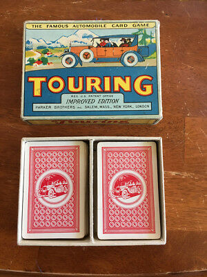 Vintage 1926 Parker Brothers TOURING Automobile Card Game - Complete