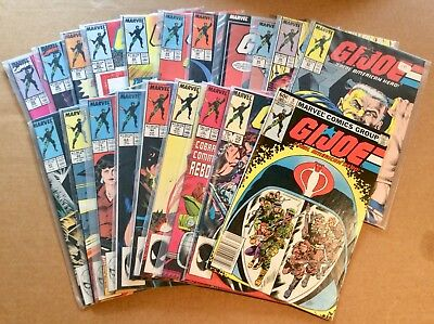 LOT OF 20 G.I. JOE COMICS; MARVEL BRONZE AGE; Mostly Very Fine or Better