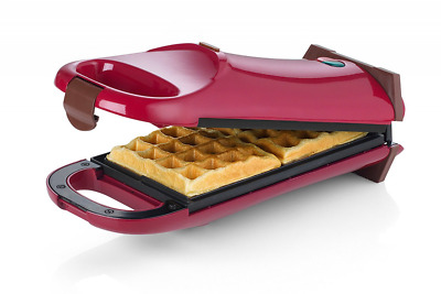 Rotating Flip Twin Waffle Iron Machine Maker Stainless Steel 700 W