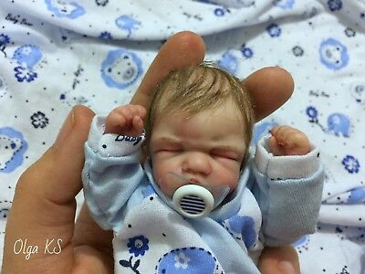 OOAK polymer clay baby boy MAX  5  1/2''  pose-able by OLga KS