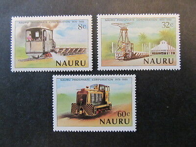 Nauru, Sc# 214-216, Locomotives Set (1980) Mnh