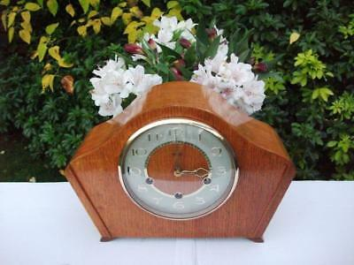 Excellent Smiths 8 Day Westminster Chiming Mantel Clock. 1957. Fully Overhauled.