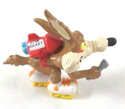 wb PVC Wile E. Coyote Acme Rocket Warner Brothers Looney Tunes Lot Toy
