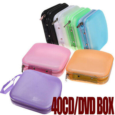 Portable 40 Pocket CD And DVD Storage Holder Protector Wallet Travel Carry FT