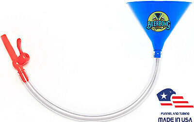 Large Beer Bong Funnel with Valve (3' Long) Fun for Tailgating | Blue Funnel