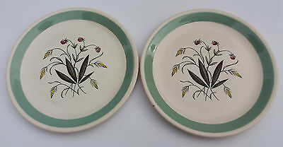 2 Alfred Meakin Hedgerow Pattern Side/Tea Plates 17cm