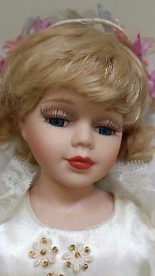 REBECCA COLLECTION Porcelain Ballerina Doll Finest Quality Vtg Authentic by ELBY