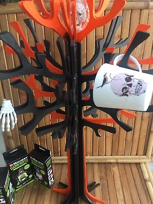 2 X Halloween Pear Trees 73cm White Multi Purpose Trees Party Ornament Decor