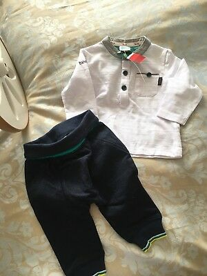 Baby Boys Ted Baker 3-6 Month trouser & tip Outfit, Navy And White BNWT