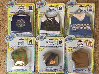 "Lot of (6) WEBKINZ Pet Clothes ""New Unopened"" With Codes"
