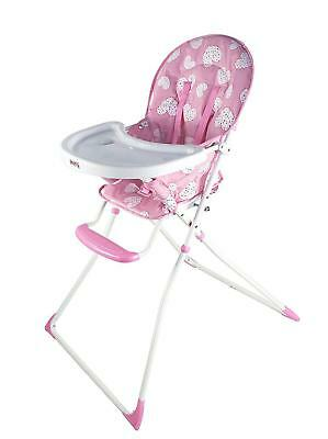 Redkite Feed Me Compact Highchair Baby Girl Feeding Chair Pretty Kitty Pink