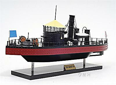 Uss Monitor Handcrafted Wooden Model Ship