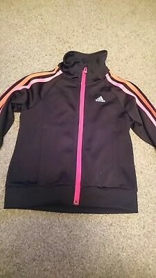 Girls adidas tracksuit top age 5-6