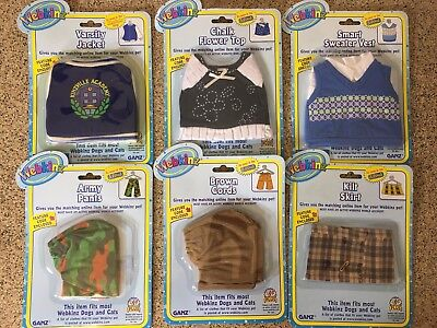 "Lot of (6) WEBKINZ Pet Clothes ""New Unopened"" W/ Codes"