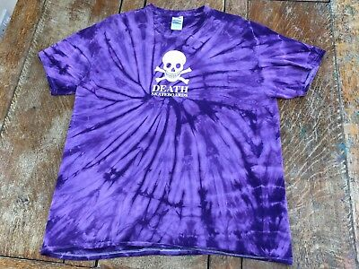 One Off Team Issue Purple Tie Dye  Death Skateboards Large T-Shirt