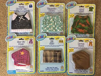 "Lot of (6) WEBKINZ Pet Clothes ""New Sealed"" With Codes"