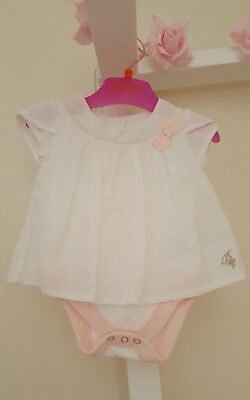 Baby Girls White 🎀 Ted Baker 🎀 2 layer Vest/Dress 0/3 Months 🌟VGC🌟