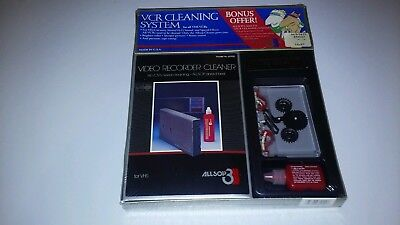 Vintage Allsop 3 Vcr Cleaning System / Cassette Tape Cleaning System New Sealed