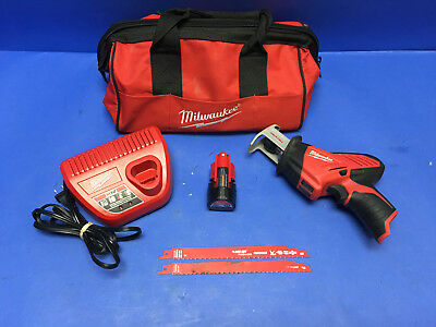 Milwaukee Tools 12V 2420-20 M12 Hackzall Kit With12volt Battery, Charger, & Bag