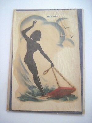"""Vintage Collectible """"MeyerCord Decal """" w/Black Silhouette Woman On Buggie Board*"""