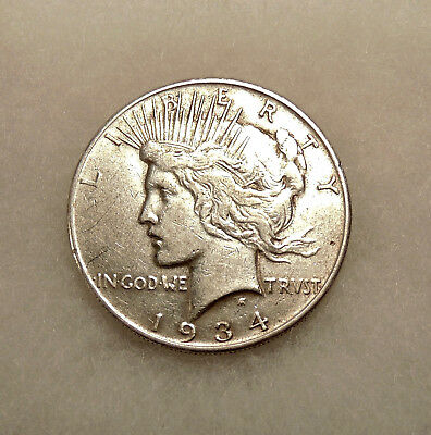 1934-S  Peace Silver Dollar  - Better Date -  Very Nice Looking Coin