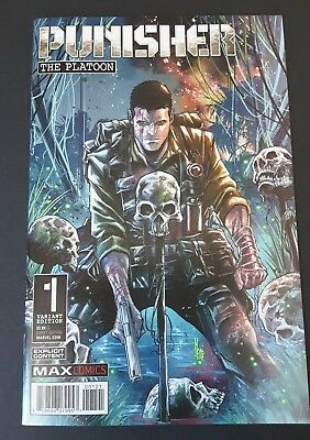 Punisher The Platoon #1 (1:25) Incentive Variant | Beautful Cover| 9.6-9.8