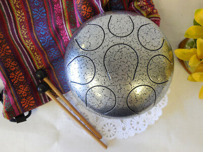 Steel Tongue Drum Handpan Chakra Drum Fine Hand tuned Sound healing therapy medi