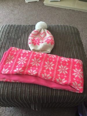 Girls Hat And Scarf Set 2-3