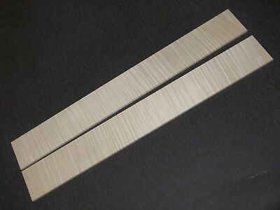 FLAMED MAPLE FRETBOARD, RIEGELAHORN GRIFFBRETTROHLING, AAA -Tonholz,Tonewood