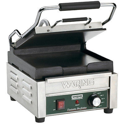 (120 Volt) Smooth Top & Smooth Bottom Restaurant Panini Sandwich Grill