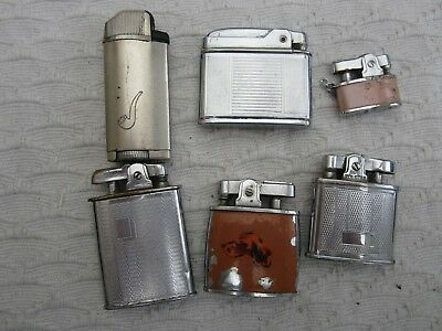 Job lot of six mixed vintage lighters.