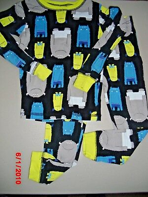 Just One You by Carter's Boy's 5T 2 Piece Pajamas Navy Blue with Monsters