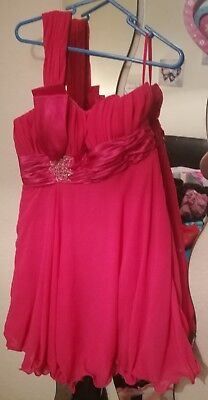 Hot Pink Beautiful Prom/christmas Party Dress Size 14