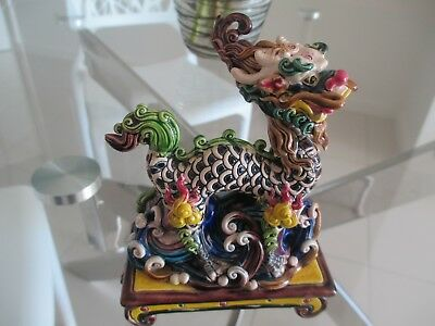 Beautiful Dragon Ornament - Brilliant Colours Approx 12 1/2Cm X 9Cm X 4Cm Impres