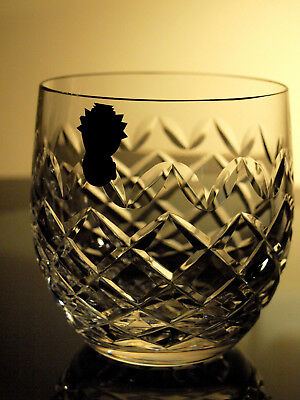 Waterford Crystal Powerscourt Old Fashioned Tumbler Signed Vintage Ireland