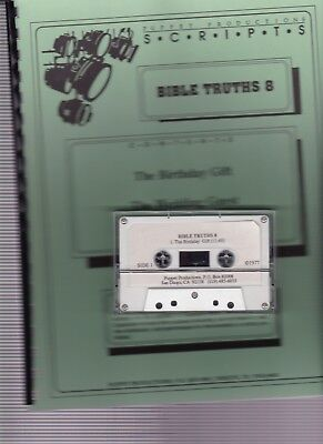 Bible Truths 8 Puppet Productions script book w Cassette tape in package