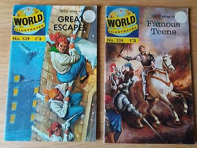 Classics Illustrated World Comic Famous Teens # 524  great escapes #529