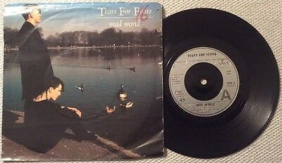 """Mad World TEARS FOR FEARS 1982 7"""" vinyl record Original Picture Sleeve"""